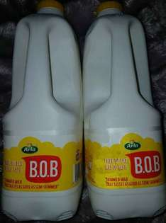 Arla B.O.B milk £1.84 each. Offer is 2 for £3 however when you scan two, they go through as £1 each instore @ Tesco