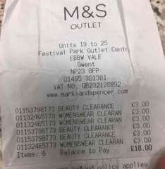 Mens / Ladies Clothes £3 at M&S Outlet  Festival Park Ebbw Vale