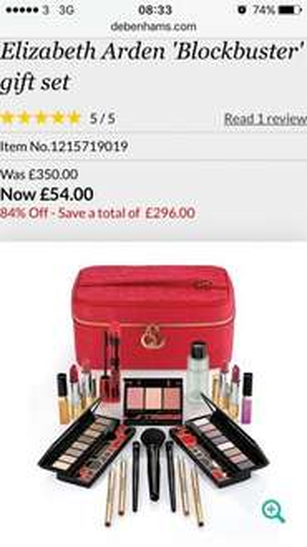 Elizabeth Arden Blockbuster gift set was £350! 84% off £54 @ Debenhams