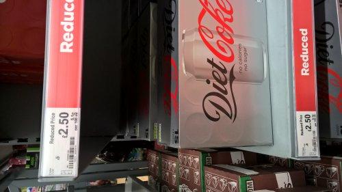 Coca Cola/Diet Coke 15 cans  £2.50  Asda