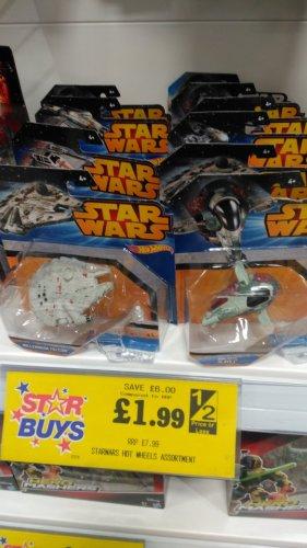 Star Wars Hot Wheels £1.99 at Home Bargains