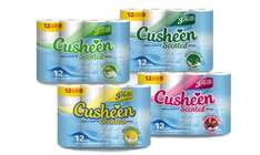 60/120 Rolls of Cusheen Quilted Luxury Toilet Roll From 11.99  +1.99 delivery @ Groupon