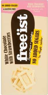Free'ist No Added Sugar White Chocolate with Strawberry (75g) (GLUTEN FREE) was £1.73 now 20p @ Morrisons