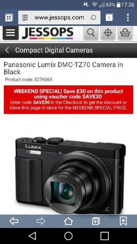 Panasonic Lumix DMC-TZ70 Camera - £241.84 @ Jessops