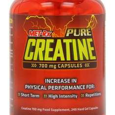 MET-Rx Pure Creatine Muscle Force and Endurance Capsules - Tub of 240 £2.02 (Amazon Prime Exclusive)