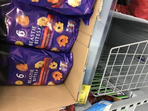 Half price crisps, 6 packs was 80p now 40p instore @ asda