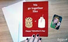 Free 7X5 folded Valentine's Card from SNAPFISH (99p for P&P)