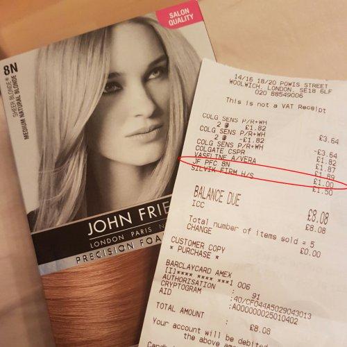 John Frieda Precision Foam Medium Natural Blonde 8N £1 in-store @ Superdrug