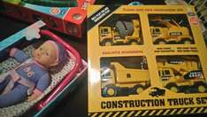 £2.99 Toy Sale instore @ B&M (Sunderland) ie Construction Vehicle Set / Doll in Carry Seat