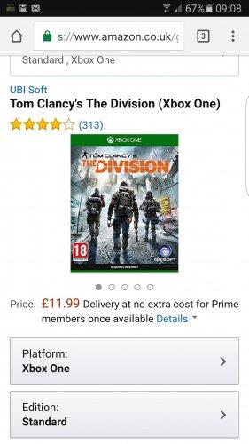 Tom Clancy the Division XBOX ONE £11.99 (Prime) / £13.98 (non Prime) at Amazon