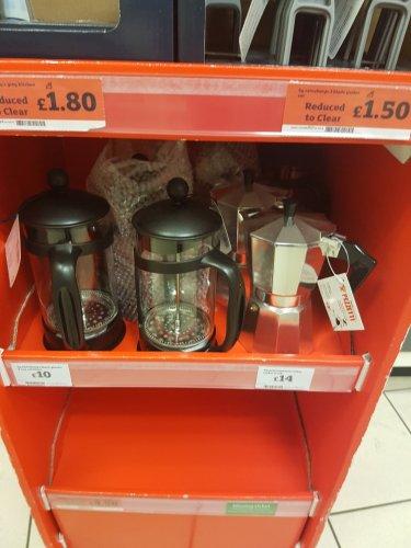 Pezzetti Moka Pot and Sainsburys Coffee Press £9 instore