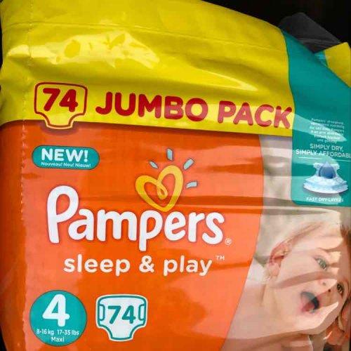Pampers jumbo pack (74) £5.30 Tesco In-store.