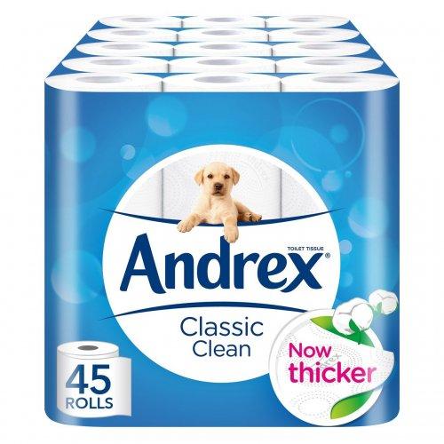 Andrex Classic 45 Rolls £15.29 @ Amazon S&S (Prime Exclusive)