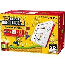 White/Red Nintendo 2DS Console with New Super Bros 2 £74.99 @ amazon