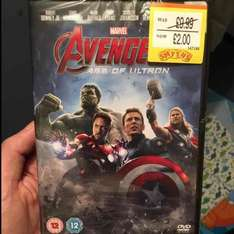 Avengers - Age of Ultron DVD SMYTHS - £2 instore