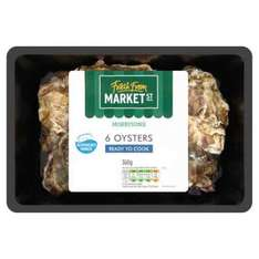 Morrisons 6 Fresh Oysters 25p per Oysters - £1.50