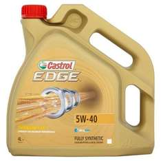 Engine Oil Castrol Edge 5W-40 With Titanium FST Fully Synthetic 4L £26.99 delivered @ ebay by dressattitude