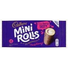 Cadburys Chocolate or Raspberry Mini Rolls 5 Pack (Half Price) 70p @ Tesco  (7 to 27 Feb)