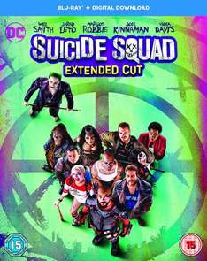 Suicide Squad [Blu-ray] Region Free EXTENDED CUT £9.99 Prime @ Amazon