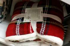Sherpa tartan throw found in Primark in Oldham at £7