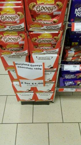 Maryland gooeys cookies 2 for £1 @ herons