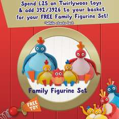 Spend £25 or more on Twirlywoos Toys @ Argos and get a Free Character Gift Set worth £12.99