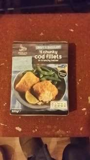 Lidl 500g chunky cod fillets £2.29.. Good thing is that this is notmal price.