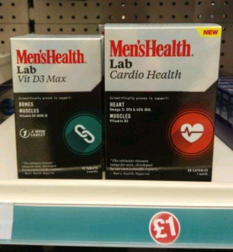 Men's Health Lab Supplements - £1 - Poundland