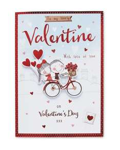 Valentine Cards  From 79p - £1.99 @ Aldi ( available online with free delivery)