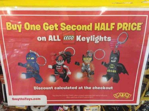 Lego Keylights inc Batman £11.98 for two @ Smyths toys