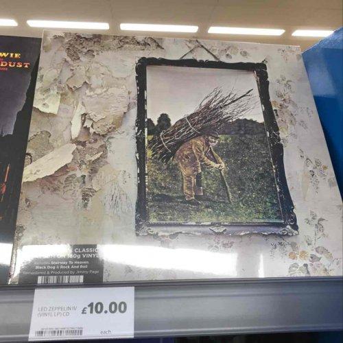 Led Zeppelin IV £10 on Vinyl at Tesco