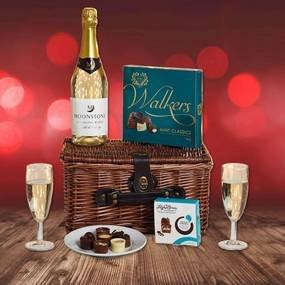 Valentines Hamper , (Wicker Basket, Sparkling Wine, Champagne Flutes & Two boxes chocolates) £15.00 + £3.95 P&P (£18.95) @ Dunelm