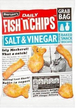 burtons fish and chips crisps 250 grams £1 @ Poundland