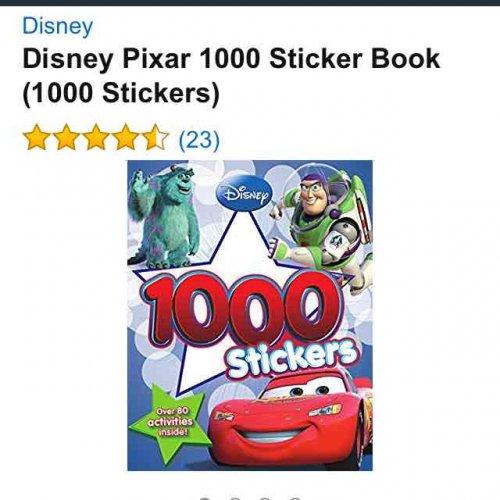 Disney Pixar 1000 sticker book 99p with Amazon prime