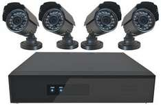 DEFENDER SECURITY 8 Channel DVR CCTV System, 4 Bullet Cameras, £179.99 @ CPC