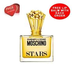Moschino cheap and Chic Stars 50ml was £60 now £15 & Paco Rabanne Lady Million 30ml edp was £40 now £30 - both free delivery, free lip balm, free sample & free gift wrap @ Beauty Base