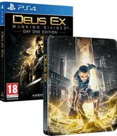 [PS4] Deus Ex: Mankind Divided - Day One Edition (Steelbook) - £14.85 - Base