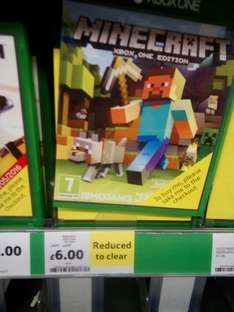 Minecraft xbox one Tesco instore reduced to clear £6 Neath
