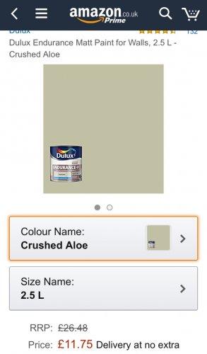 Dulux endurance paint £11.75 at Amazon - prime exclusive