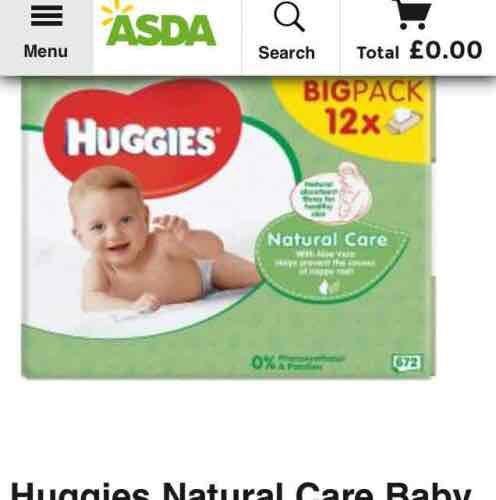 Huggies wipes 12pk £6 @ Asda