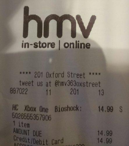 Bioshock Collection (xbox one) £14.99 in store HMV Oxford Street, London
