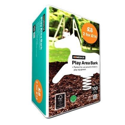 Play Bark Chips - 100L - Homebase - £4.42
