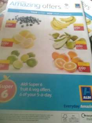 super 6 Available From Thursday 16 February - Wednesday 1 March (Blueberries 125g 69p) (Lemons 5 Pack 69p) (Limes 5 pack 69p) (Mini Bananas 7 Pack 69p) ( Funsize Pears Min.5 69p) (Funsize Easy Peelers 500g 69p)