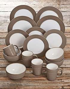 DENBY 16 PIECE INTRO DINNER SET MOCHA was £45.00SAVE £19.00NOW £26.00 plus £3.95 delivery £29.95 online JD Williams