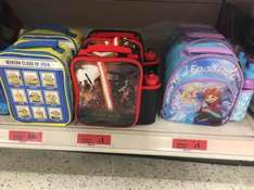 lunchbag sale at Sainsbury's. lunch bag and drinks bottle. frozen / Star Wars was £5 now £1