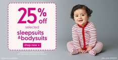 25% Off Selected Sleepsuits & Bodysuits ~ Mothercare
