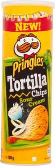 Pringles Tortilla Chips Nacho Cheese / Sour Cream / Spicy Chilli / Smokey BBQ (180g) was £2.48 now £1.25 (Rollback Deal) @ Asda