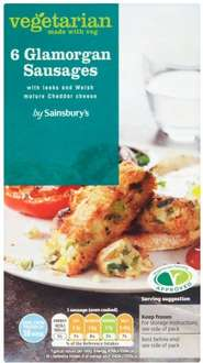Sainsbury's Glamorgan Sausages (6 vegetarian sausages made with leeks & Welsh mature Cheddar cheese = 300g) ONLY £1.50 @ Sainsbury's