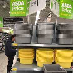 Washing-Up Bowls @ Asda Bournemouth £0.70 yellow sticker stacks of them