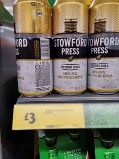Stowford Press Cider 4 x 500ml cans - £3 instore @ Morrisons